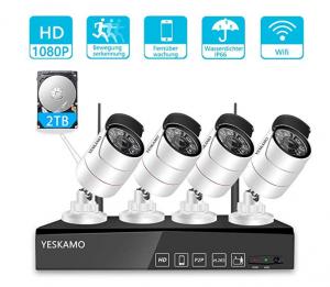 Yeskamo Überwachungskamera mit Aufzeichnung