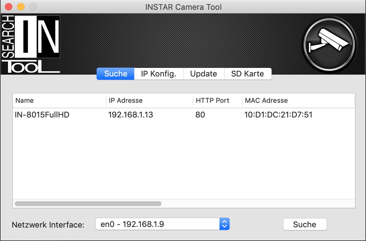 INSTAR Kamera Tool